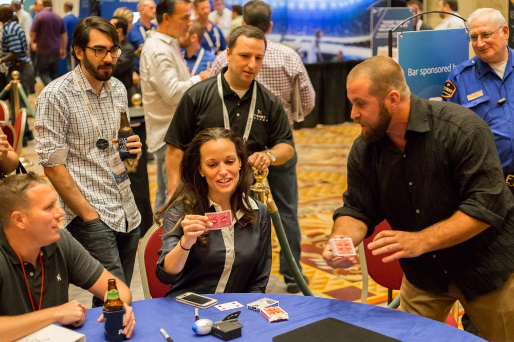Magician Jon Dorenbos wows the crowd at Ticket Summit 2016.