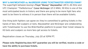 Mayweather-McGregor Prices Continue to Fall | TicketNews