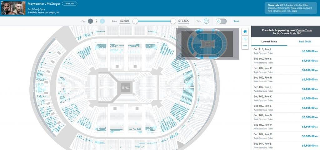 Ticketmaster seats
