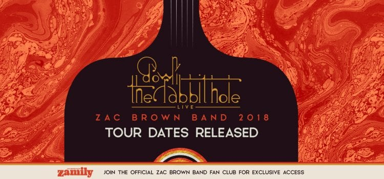 Zac Brown Band Announce Dates for Down the Rabbit Hole Tour