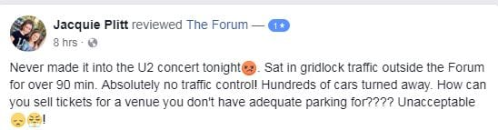 Parking Snafu, Traffic Cause Many U2 Fans to Miss LA Forum Show