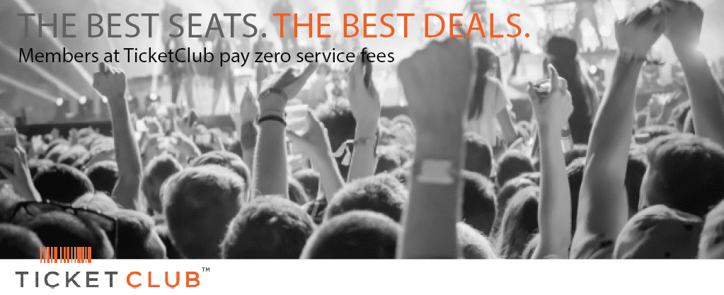 Cheap tickets with no service fees at TicketClub.com