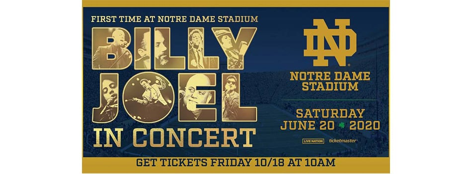 Billy Joel Announces Concert at Indiana's Notre Dame Stadium