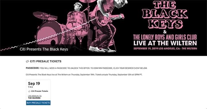 The Black Keys Wiltern