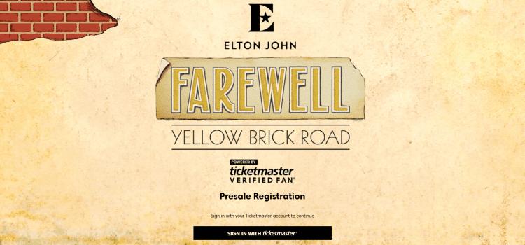 Elton John Verified fan Ticket Sale Has Frosty Fan Reaction