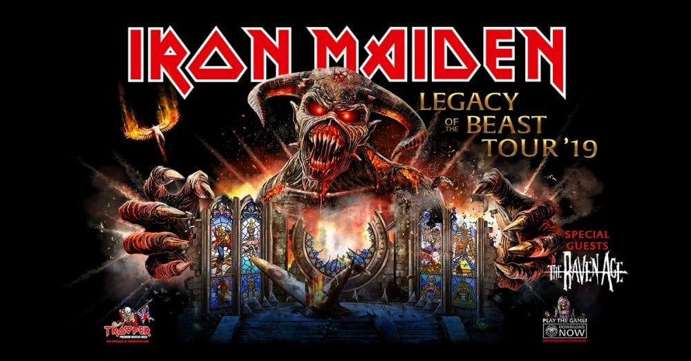 iron maiden 39 legacy of the beast tour 39 to hit north america in 2019. Black Bedroom Furniture Sets. Home Design Ideas