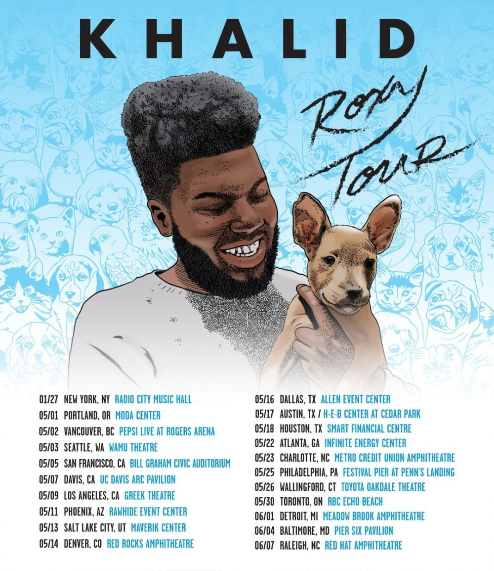 Image result for Khalid: The Roxy Tour