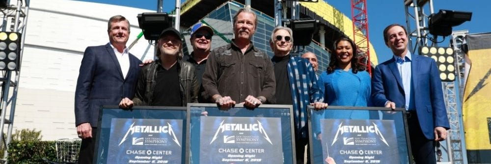 Metallica, San Francisco Symphony To Play Golden State Warriors' New Chase Center