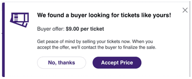 stubhub sell it now