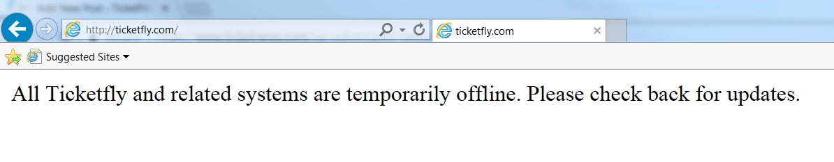 ticketfly down